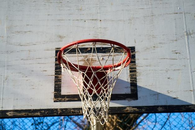 Basketball hoop background