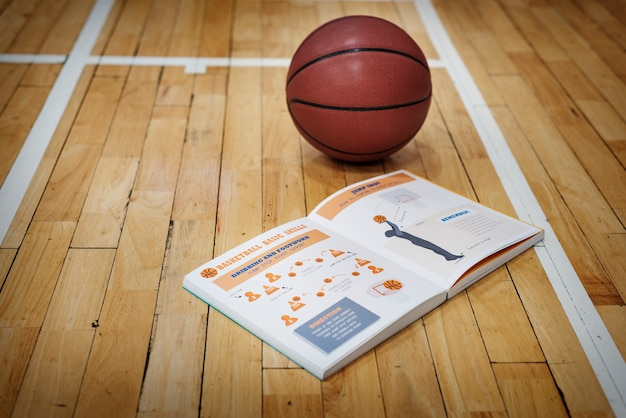 Basketball manual learn instruction game concept