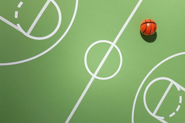 バスケットボールのミニマリストの静物