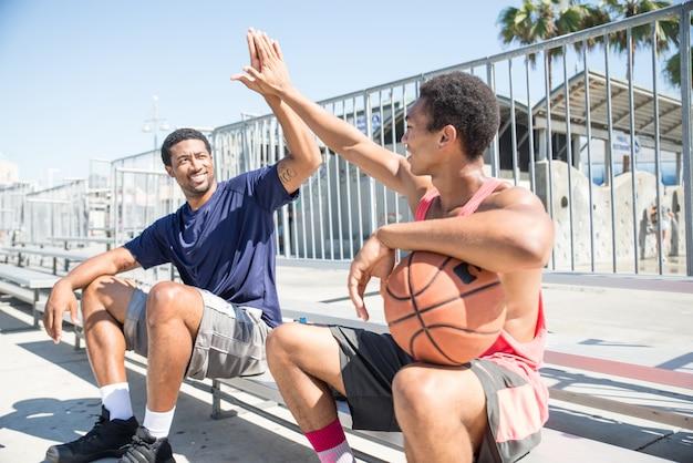Basketball player making a dunk