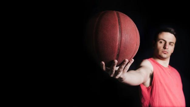 농구 선수 공 포즈