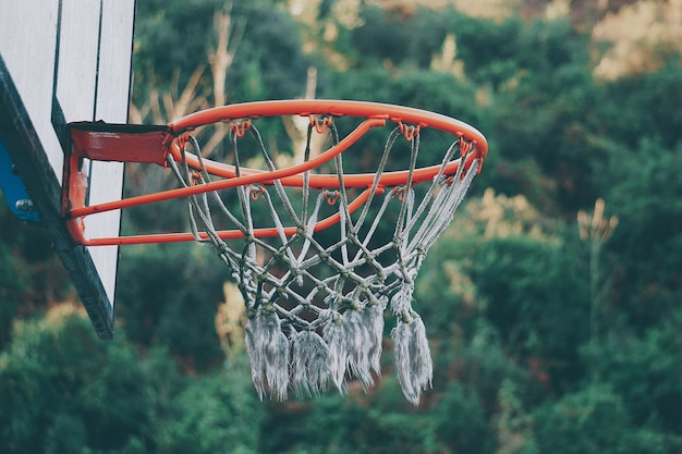 Basketball sport in the street