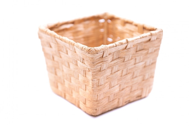 Baskets made from weeds by skilled technicians