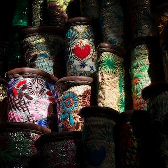Baskets for sale in rahba kedima, medina, marrakesh, morocco