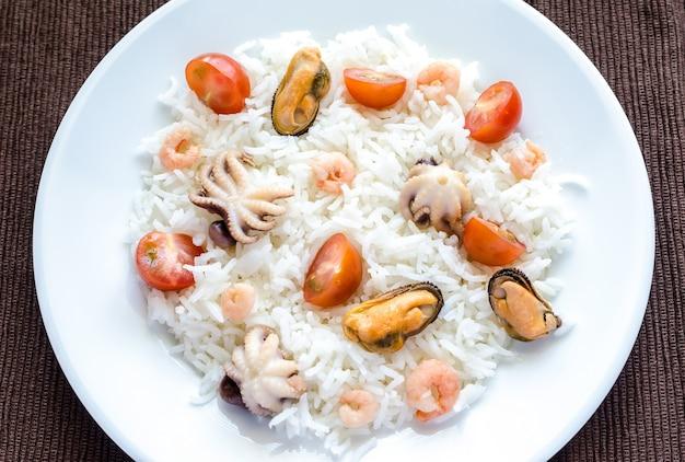 Рис басмати с морепродуктами