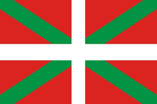 Баскский флаг крупным планом