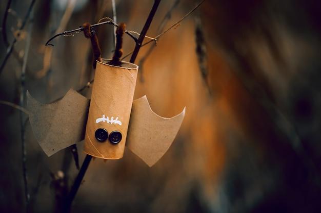 Летучая мышь хэллоуина, для фона концепции хэллоуина. сделай сам.