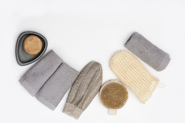 Bath accessories from natural material