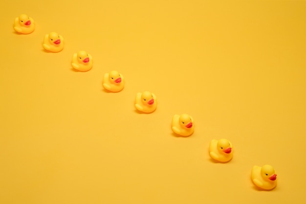 Bath ducks in a row