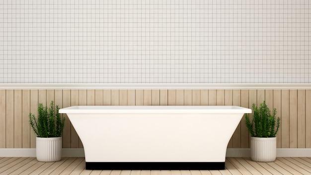 Bathroom in apartment  or hotel - 3d rendering