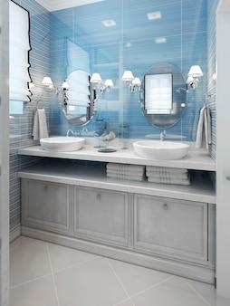 バスルームのアールデコ調