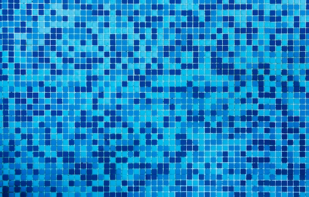 Bathroom blue tiles texture background