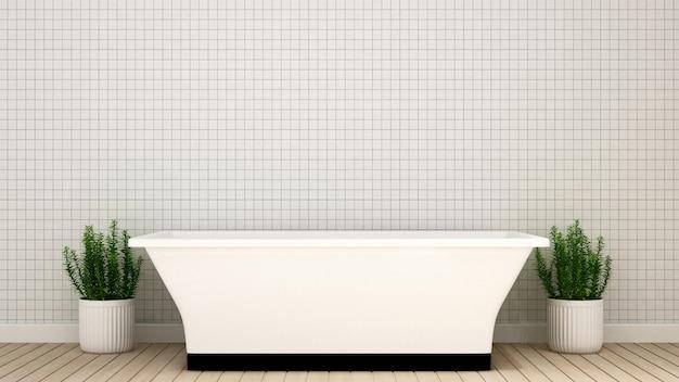 Bathroom  in condominium  or hotel - 3d rendering