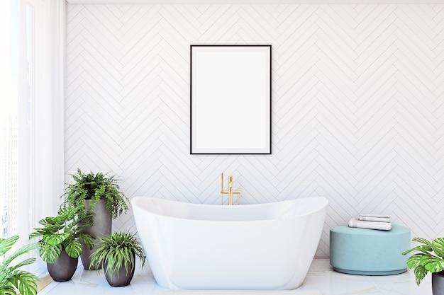 Макет каркаса ванной комнаты в современном стиле