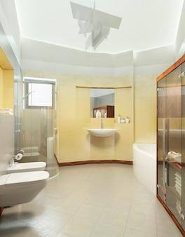 現代的なスタイルのバスルーム