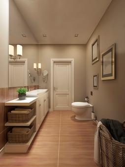 プロヴァンススタイルのバスルーム
