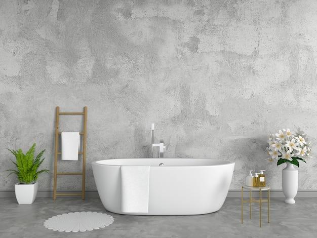 Bathroom interior bathtub, loft style