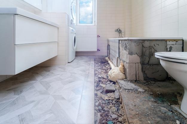 Ремонт ванной комнаты до и после вид
