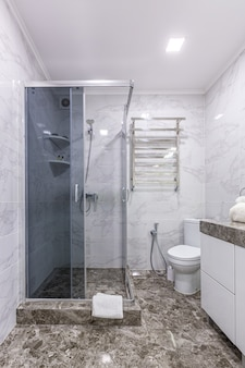 Bathroom  in a modern style light color