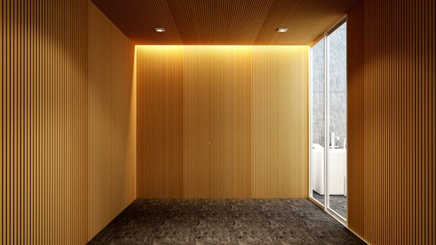 Bathroom and outdoor view for artwork of hotel or apartment ,