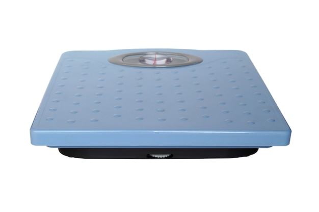 Bathroom scales isolated