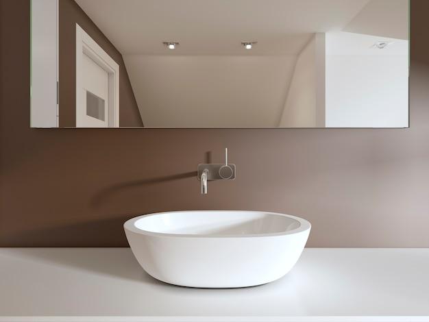 Bathroom vanities in the bathroom contemporary style. 3d rendering.