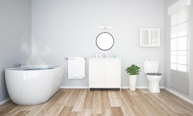 Bathroom with grey wall