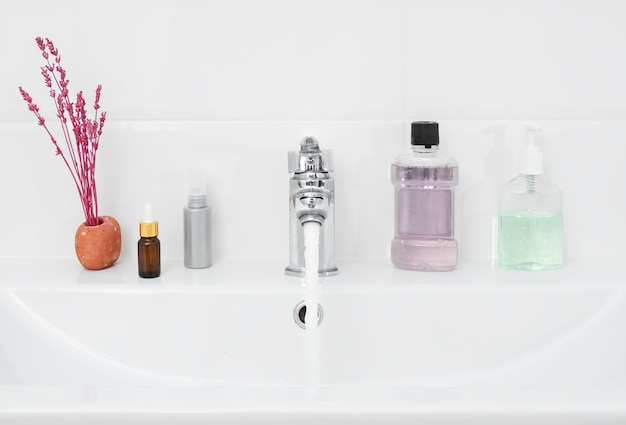Bathroom with personal hygiene items