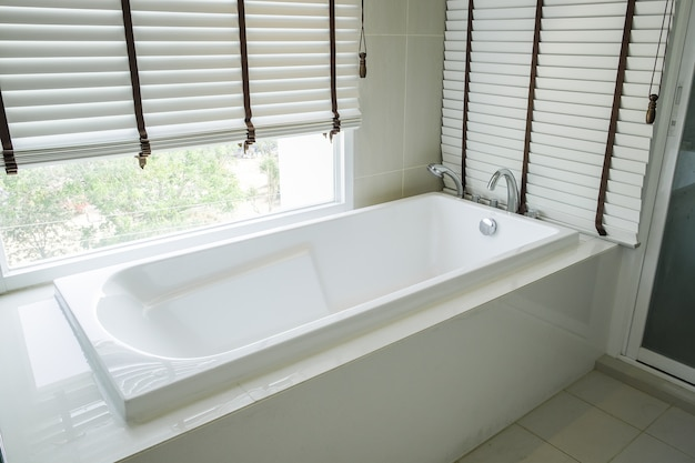 Bathtub white ceramic interior luxury