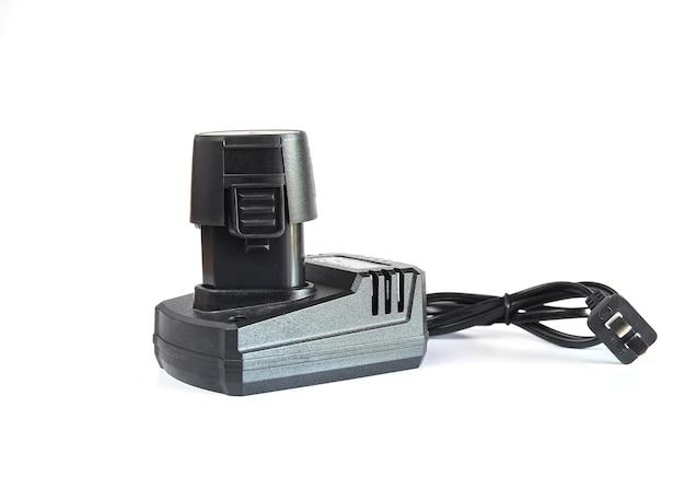 무선 드릴 작업 도구 용 배터리 충전기.