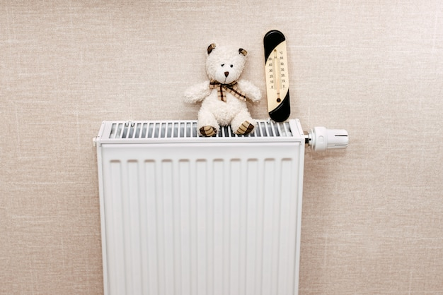 Battery or system of heating in the apartment
