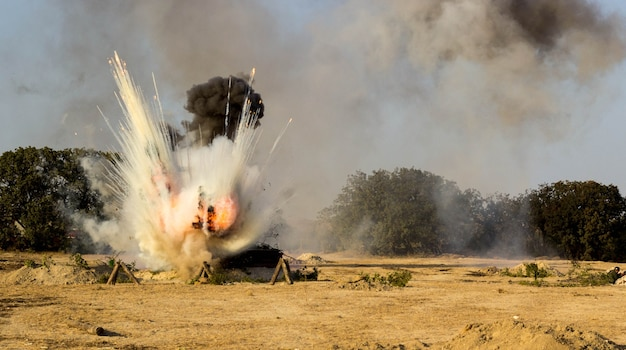 Поле битвы. реконструкция битвы второй мировой войны. битва за севастополь
