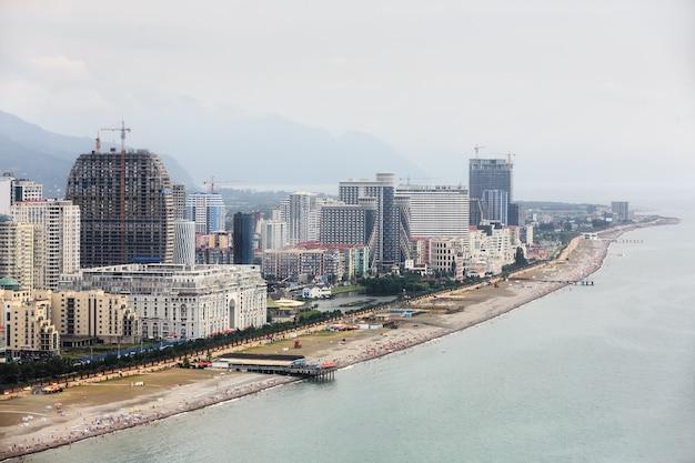 2017년 7월 19일 조지아주 바투미: 바투미 시의 조감도. batumi는 흑해 연안에 위치한 조지아에서 세 번째로 큰 도시입니다.