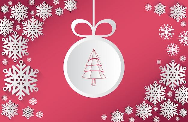 クリスマステーマベクトル、雪片とbauble