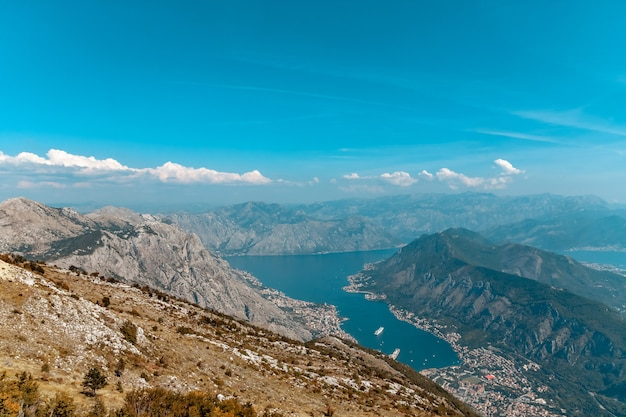Bay of kotor from the heights.