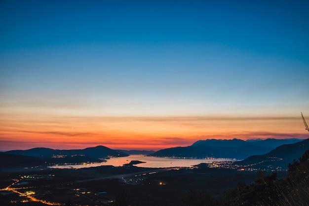 Bay of kotor at night