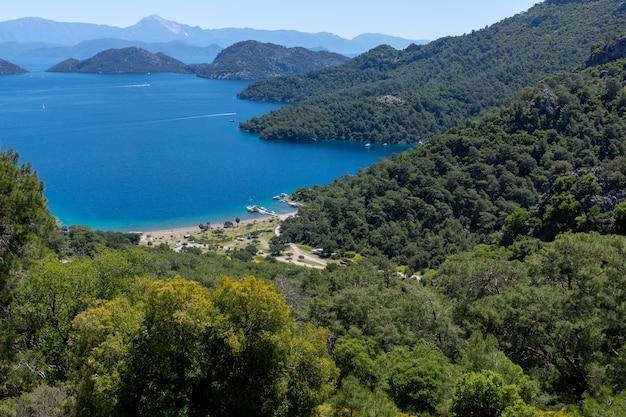 トルコのベイサルサラ。鳥瞰図からの眺め