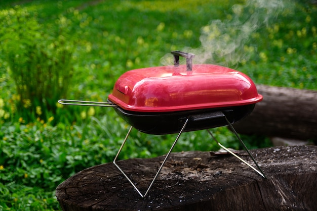 Bbq barbecue grill with charcoal