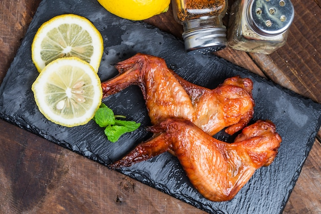 Bbq chicken on the table