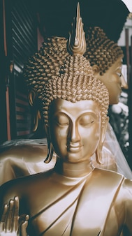 Bbuddha statue haft body used as amulets of buddhism religion. vacation holiday asia culture travel