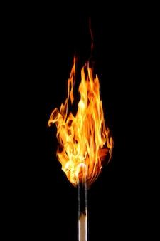 燃えるマッチ棒