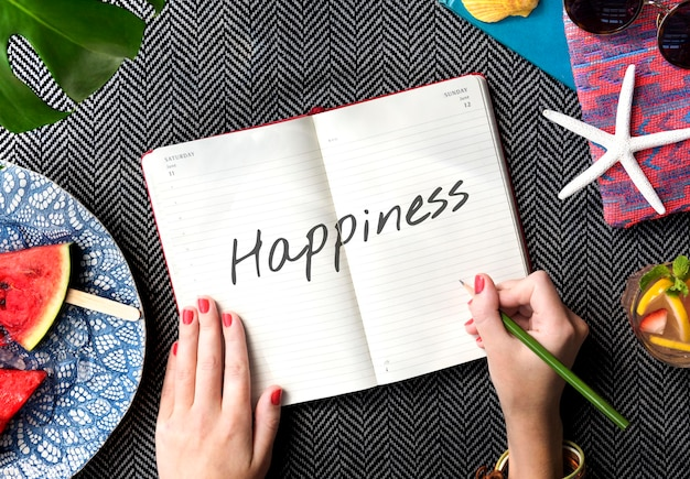 Sii felice e divertente concetto di fine settimana