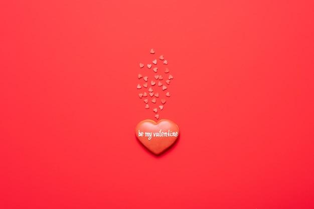 私のバレンタインの赤いハートになります