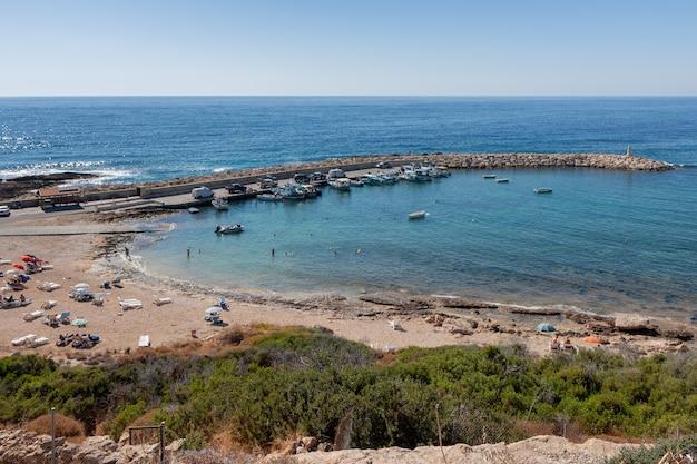 케이프 데프라노 키프로스의 해변과 항구