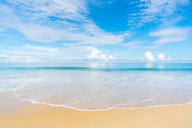 夏の太陽のビーチと海
