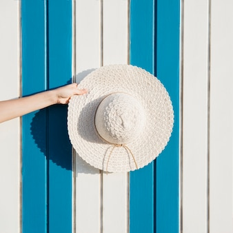 Beach and summer concept with hat