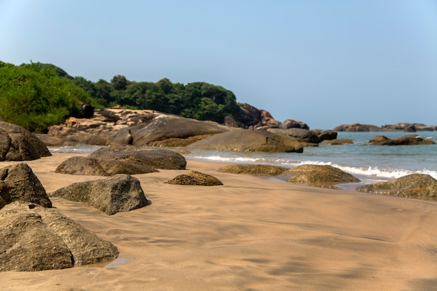 Beach in anjuna, goa, india