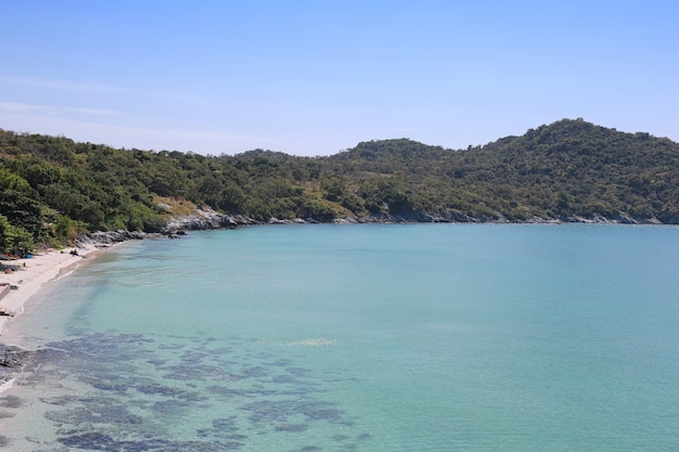 Beach area of hat tham phang in koh si chang.