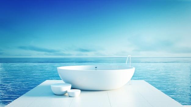 Beach bathroom - luxury and modern hotel