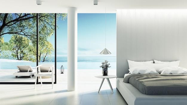 Beach bedroom interior